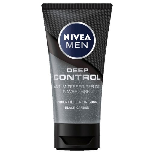 Nivea Men Deep Control Blackhead Peeling & Wash Gel, 75ml