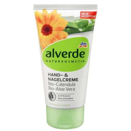 Alverde Hand & Nail Cream Organic Calendula, Organic Aloe Vera, 75 ml