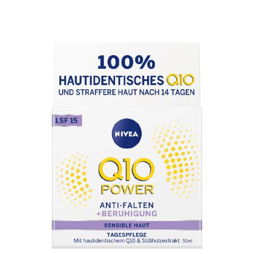 Nivea Q10 Power Anti-Wrinkle & Sensitive Day Cream SPF15, 50ml