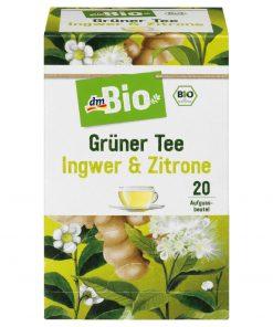 dm Organic Green Tea Ginger Lemon