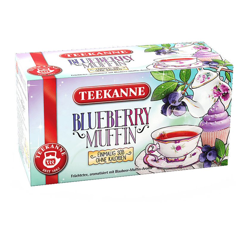 Teekanne Blueberry Muffin Tea, 18 bags