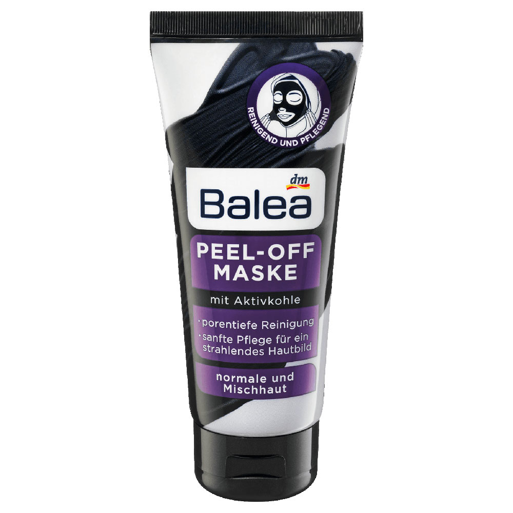 balea activated charcoal peel off face mask 100ml german drugstore. Black Bedroom Furniture Sets. Home Design Ideas