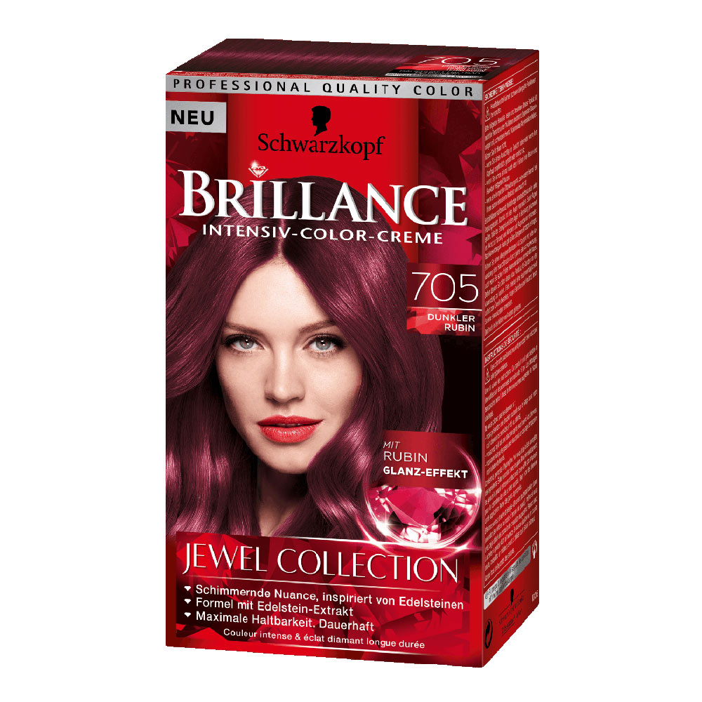 Schwarzkopf Brillance 705 Dark Ruby German Drugstore