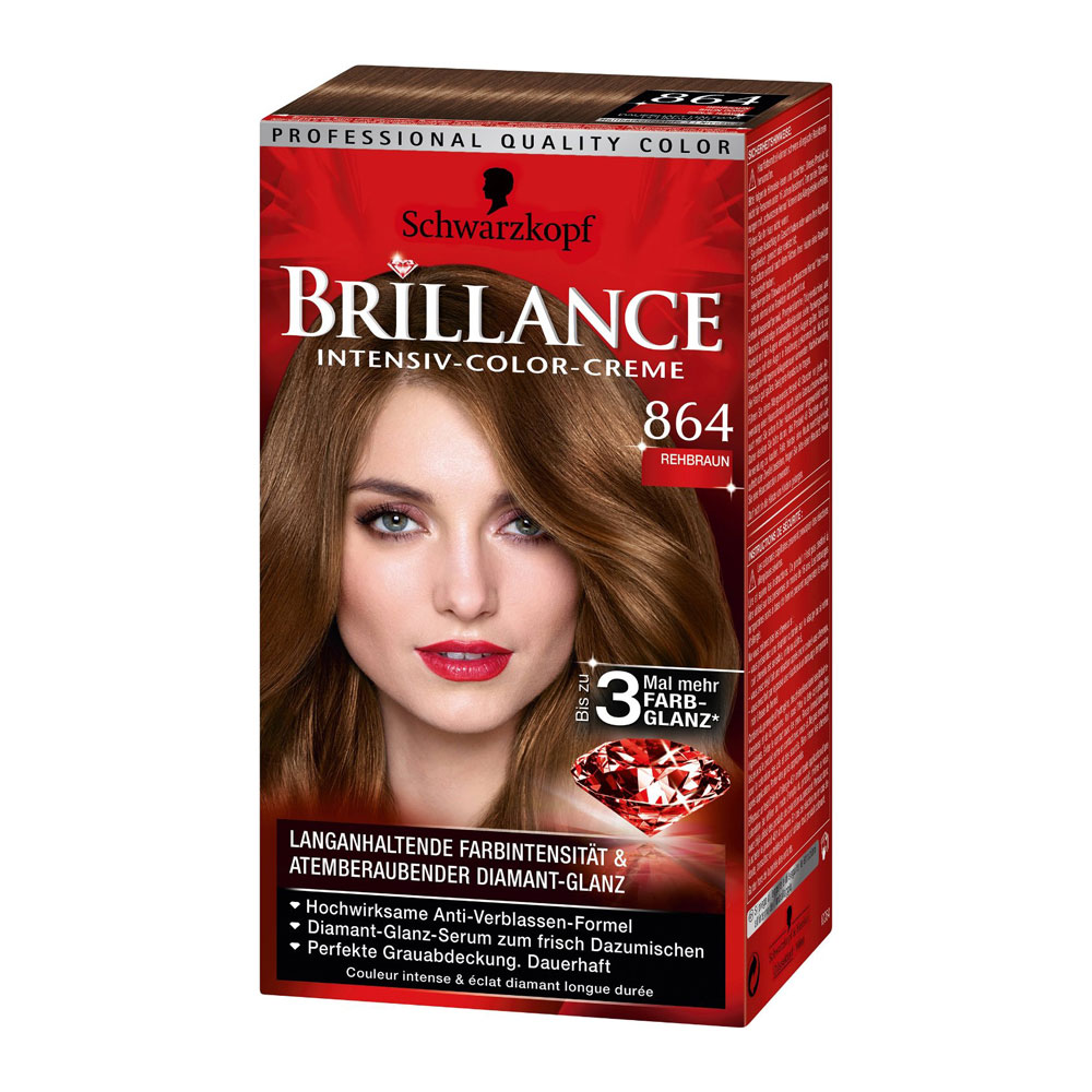 Schwarzkopf Brillance 864 Fawn Brown German Drugstore