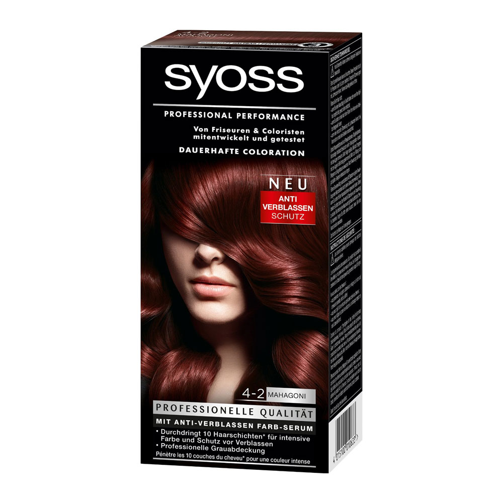 Syoss Color Classic 4 2 Mahogany Brown German Drugstore