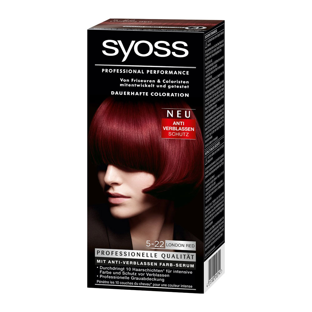 Syoss Color Classic 5 22 London Red German Drugstore