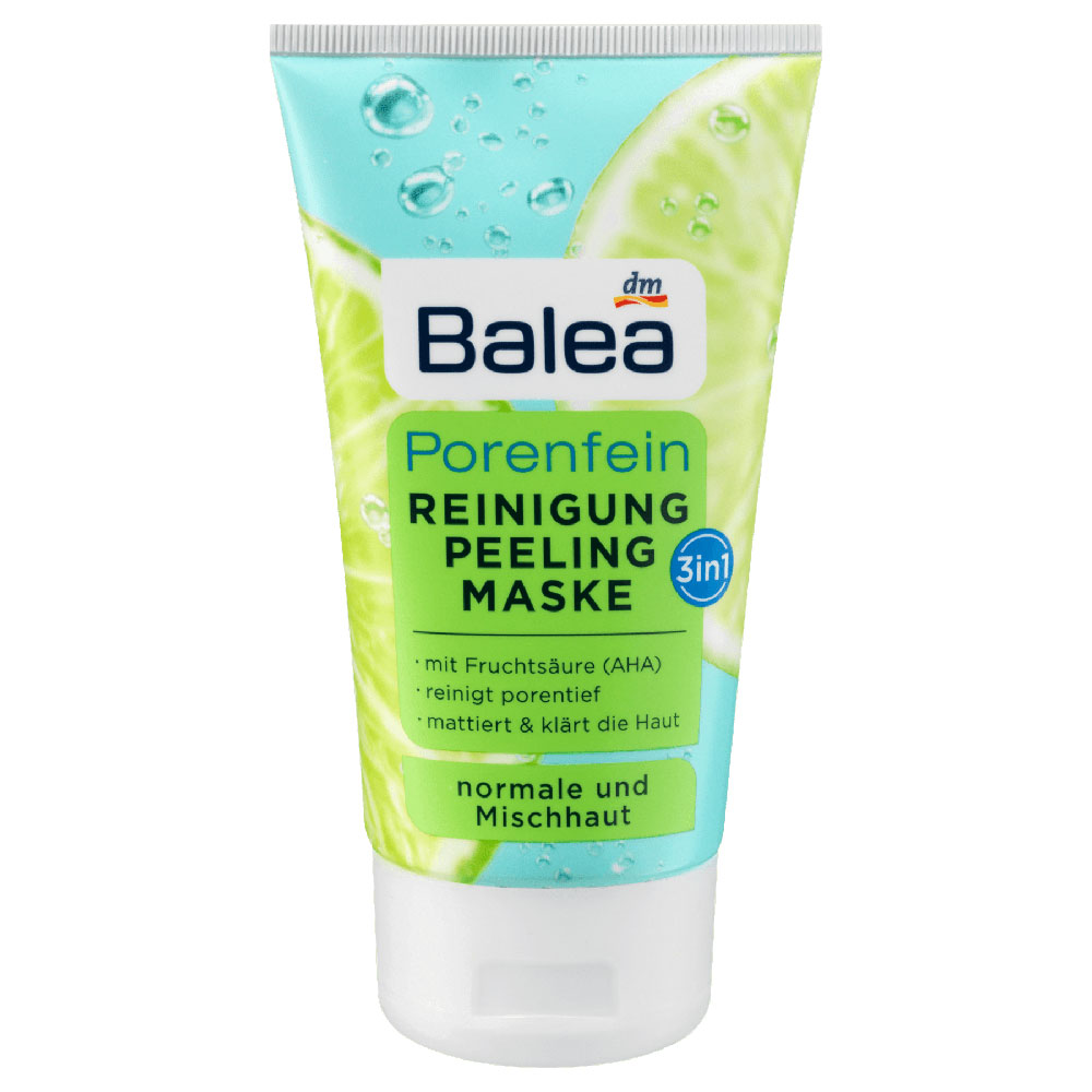 Balea Cleansing Gel 3in1 Face Scrub Mask 150ml German Drugstore