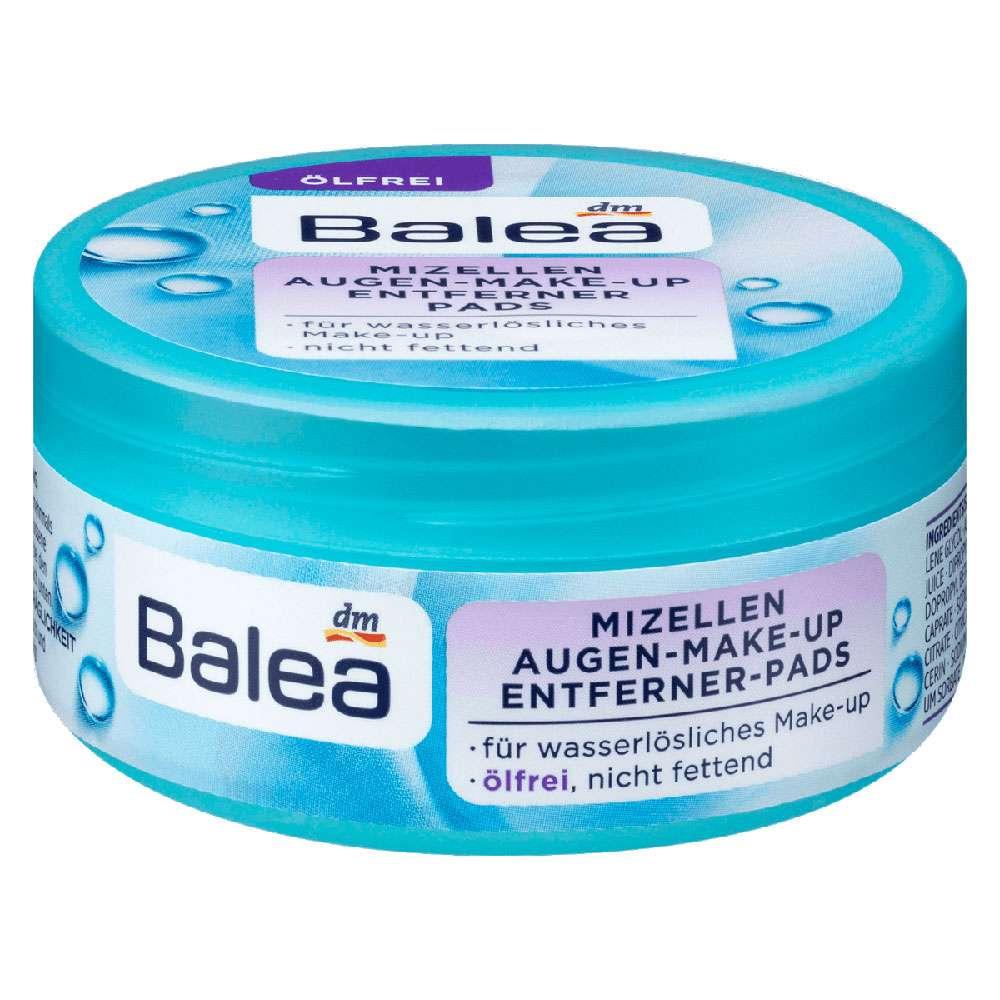 Balea Micellar Eye Make-up Remover Pads oil-free, 50 pcs